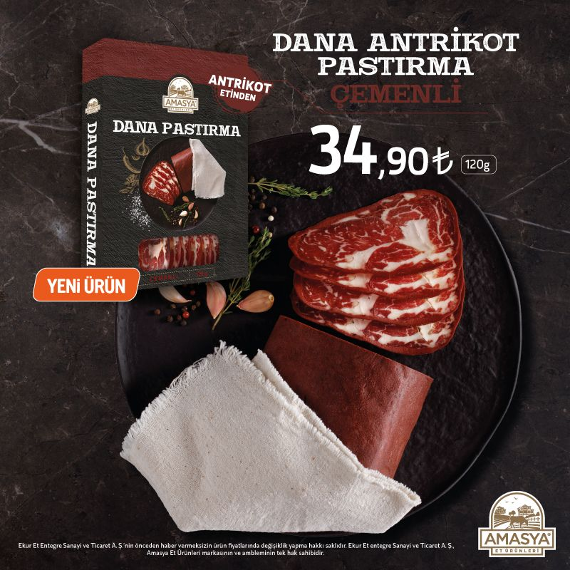 Amasya Et Ürünleri Dana Pastırma