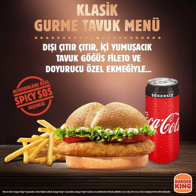 Burger King Klasik Gurme Tavuk