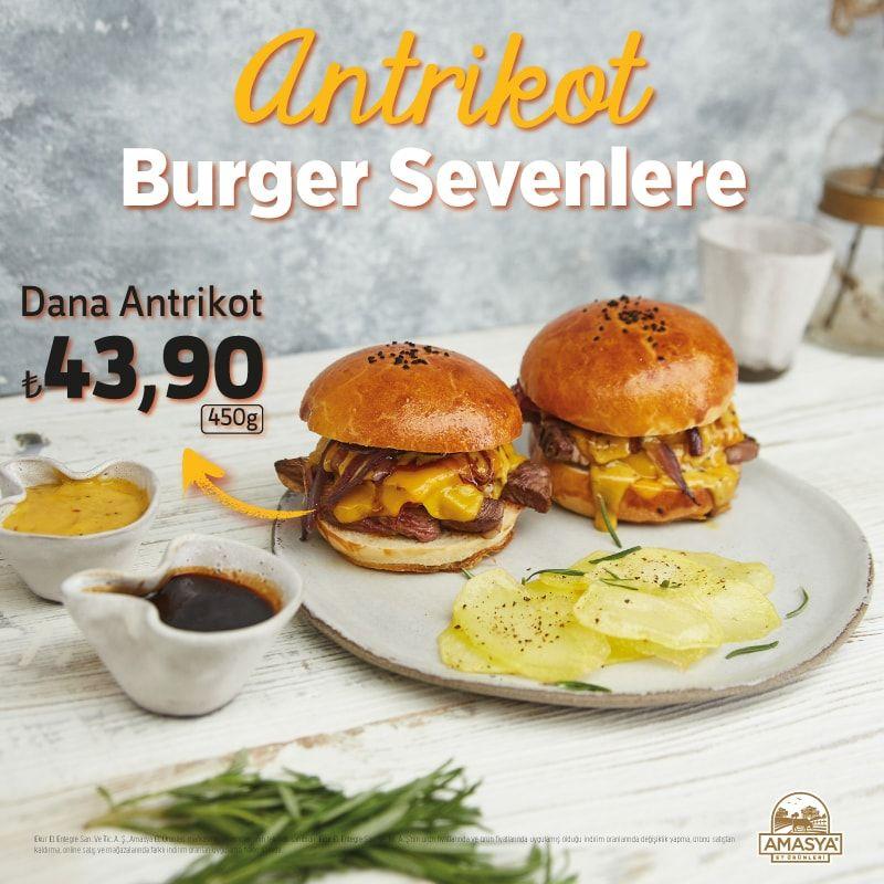 Amasya Et Ürünleri'nden Antrikot Burger Sevenlere Muhteşem Dana Antrikot